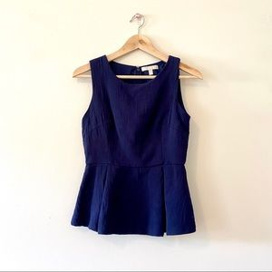 Banana Republic navy blue peplum blouse tank top 4
